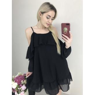 Шифоновое платье с открытыми плечами Luiza