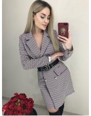 Женское платье пиджак в гусиную лапку Lana
