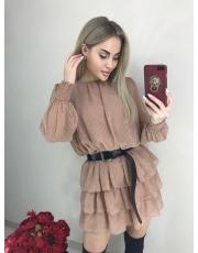 Шифоновое платье с воланами Fly