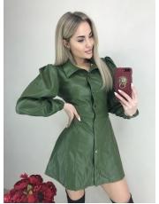 Женское кожаное платье Play