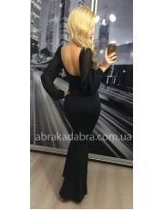 Длинное платье футляр с открытой спиной Olga