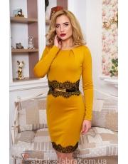 Нарядное платье со вставками из гипюра Laces