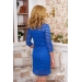 Вечернее платье из органзы в полоску  Starline