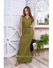 Летнее платье из льна Kleo