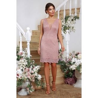Платье из гипюра с v-образным вырезом Shelli