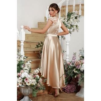 Атласное платье с асимметрией Ninel