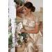 Вечернее платье в пол с открытой спинкой Lorena