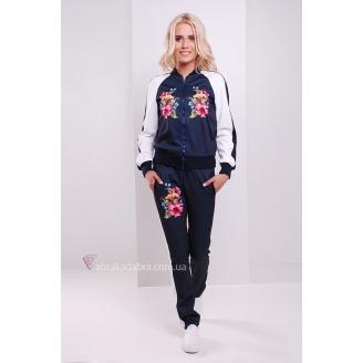 Спортивные брюки с аппликацией цветы Vella